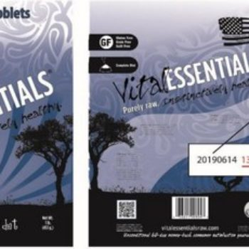 Vital Essentials Dog Food Recall | April 2018
